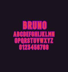 modern alphabet font capital letters latin vector image