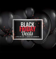modern black friday deals balloon background vector image
