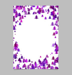modern christmas design stationery template vector image