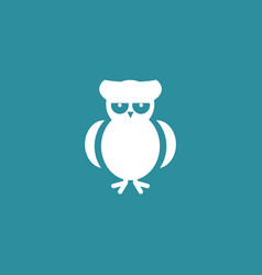owl icon simple vector image