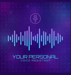 personal assistant vector image
