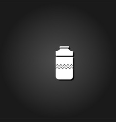 plastic bottle icon flat vector image