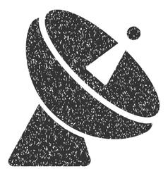 Radio Telescope Grainy Texture Icon vector