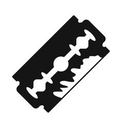 Razor blade icon black simple style vector image