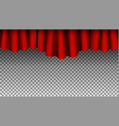 red silk curtains background curtains vector image