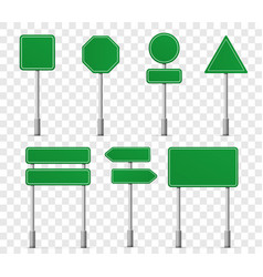 Road board highway signs icons street signboard vector
