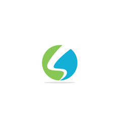 round abstract colored s initial logo vector image