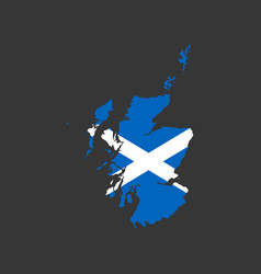 scotland flag and map vector image