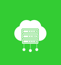 server hosting services icon vector image