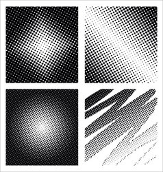 Set of different abstract halftone vector image vector image