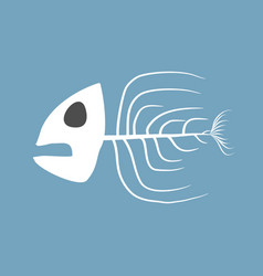 skeleton fish isolated remains of marine animal vector image