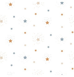 star sky cute seamless pattern background vector image