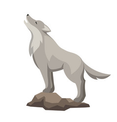 Stylized of wolf woodland forest vector