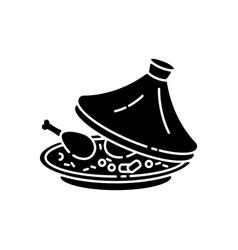 Tagine black glyph icon vector