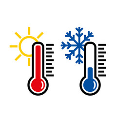thermometer icon or temperature symbol and vector image