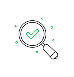 Thin line good result icon vector