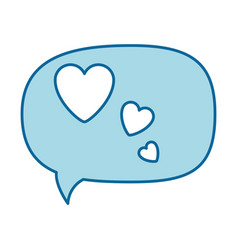 Thinking love speech bubble vector