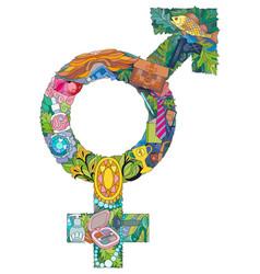 Transgender symbol in simple sexual orientation vector