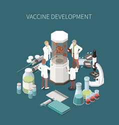 Vaccine development design concept vector