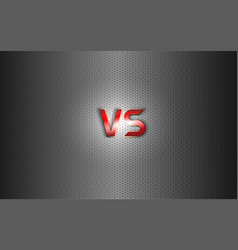 versus background red metal letters logo on vector image