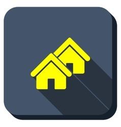 Village Longshadow Icon vector