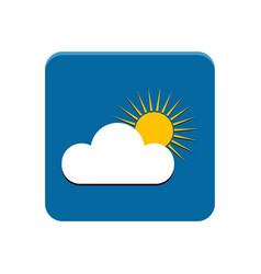 weather app button vector image