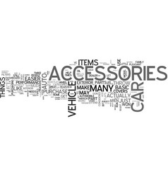 what types of auto accessories do you want text vector image