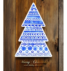 Wooden Christmas Design vector