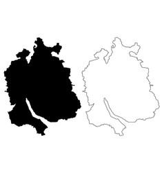 zurich map vector image