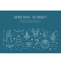 Christmas isolated white concept with traditional vector image vector image