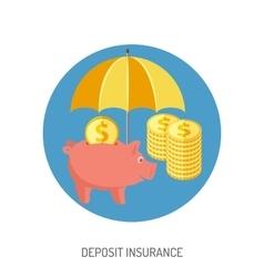 Deposit Insurance Flat Icon vector image