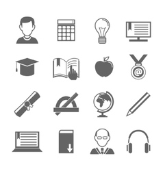 E-learning icon set vector image