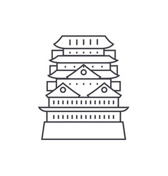 pagodaasian temple line icon sign vector image vector image