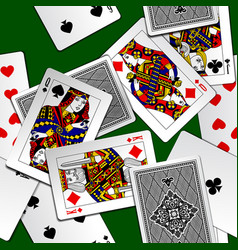 playing cards background vector image