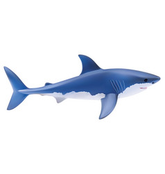 shark isolated on white realistic 3d vector image vector image