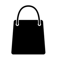 shopping bag silhouette icon 48x48 pictogram vector image
