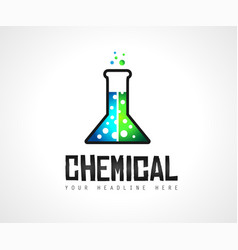 creative chemical colorful logo design for brand vector image vector image