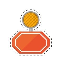 Light alert mining caution sign cut line vector