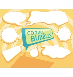 Set of comic bubbles vector image vector image