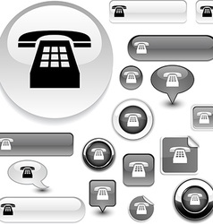 Telephone signs vector image