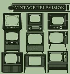 Vintage television II vector image