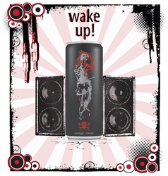 Wake-up art background vector image vector image
