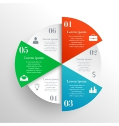 Abstract circle infographic vector image vector image