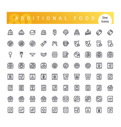 additional food line icons set vector image