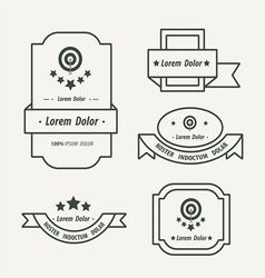 Banner And Ribbon Design line style vector image