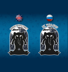 Big set of stickers elephant cartoon vector