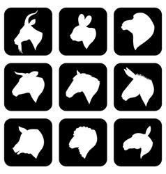 farm animal negative vector image vector image