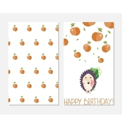 Happy birthday Stylish inspiration card in cute vector image vector image
