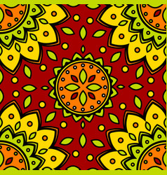 pattern flower texture seamless background vector image