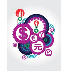 World Currency symbol concept vector image
